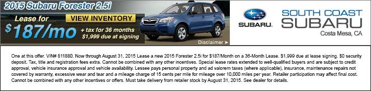 South Coast Subaru - Your Subaru Dealer in Costa Mesa - Sales | Parts | Service
