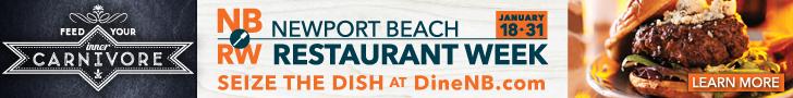 Newport Beach Restaurant Week - January 18-31