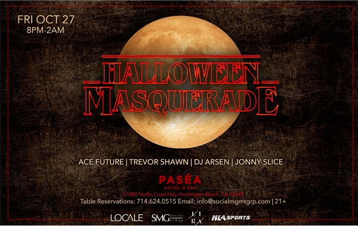 Pasea Halloween Party - Friday, October 27 - Pasea Hotel, Huntington Beach