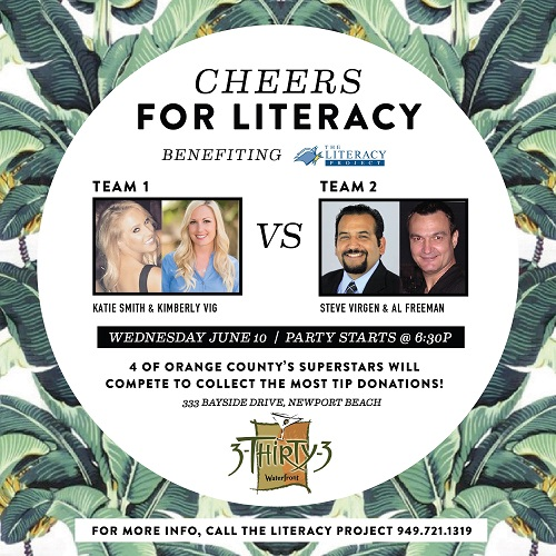 Literacy Bar Battle - Wednesday, June 10 6:30pm - 3Thrity3, Newport Beach